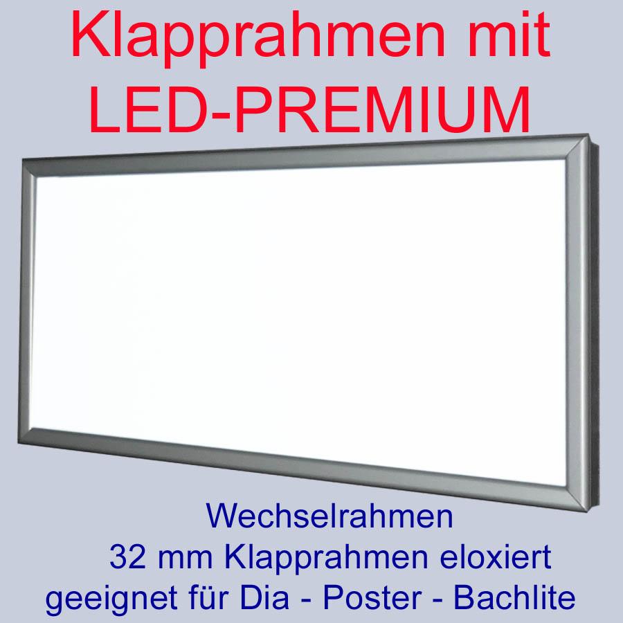klapprahmen led premium leuchtkasten 1000 x 600 mm wechselrahmen leuchtreklame ebay. Black Bedroom Furniture Sets. Home Design Ideas