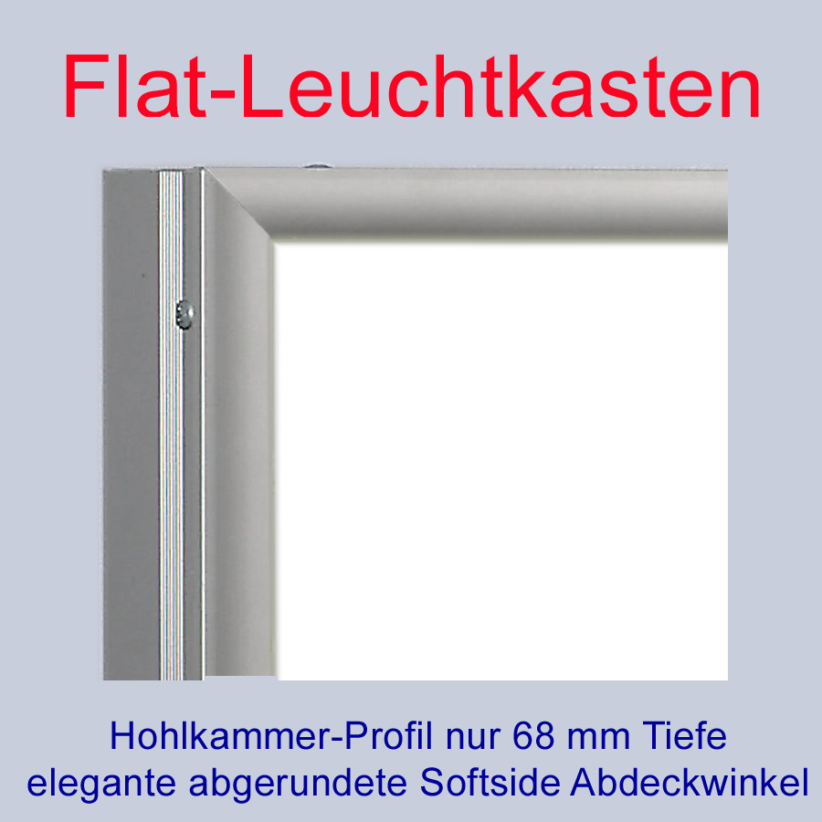 premium flat led leuchtkasten 3500 300mm t 68mm leuchtwerbung ebay. Black Bedroom Furniture Sets. Home Design Ideas