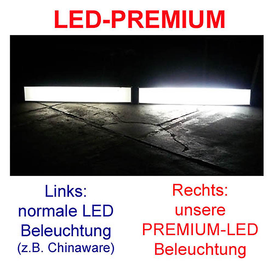 led flat leuchtkasten leuchtreklame leuchtalarm4000 500 ebay. Black Bedroom Furniture Sets. Home Design Ideas