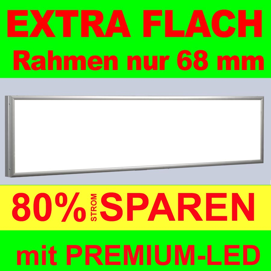 premium flat led leuchtkasten 4000 500mm 68mm tiefe lichtkasten leuchtwerbung ebay. Black Bedroom Furniture Sets. Home Design Ideas