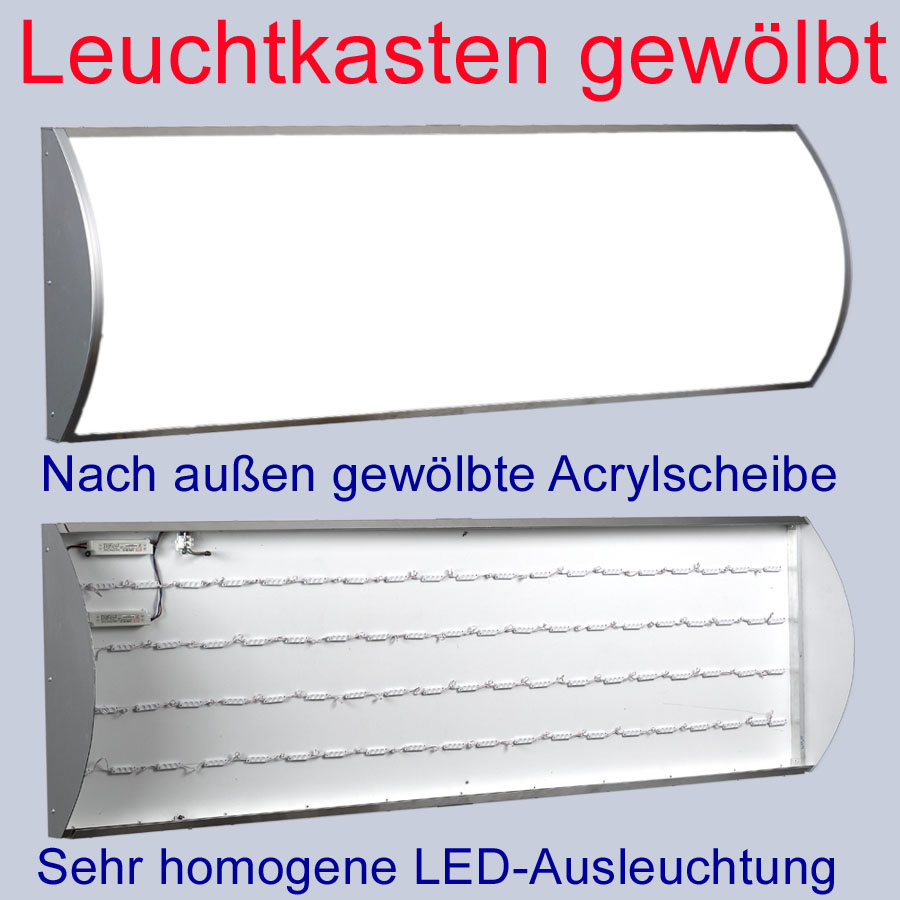 led leuchtkasten gew lbtes acryl 2000 x 400 x 60 mm leuchtreklame leuchtwerbung ebay. Black Bedroom Furniture Sets. Home Design Ideas